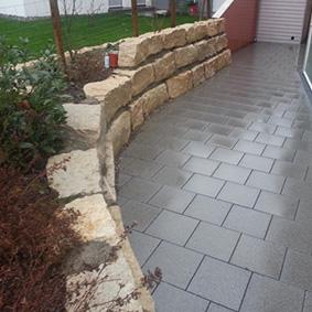 Pantina Gartenbau Mauerbau Beispiel 4